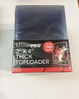 Ultra Pro 100 Point Thick Toploader 3″ x 4″