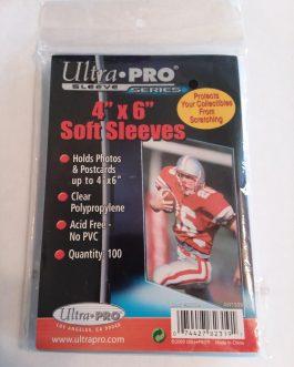 Ultra Pro 4″ x 6″ Soft Sleeves