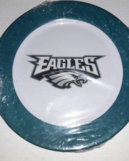 Philadelphia Eagles 10.25 inch Melamine dinner plates set of 4.. NFL Licensed