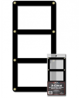 BCW 3 CARD SCREWDOWN HOLDER BLACK BORDER